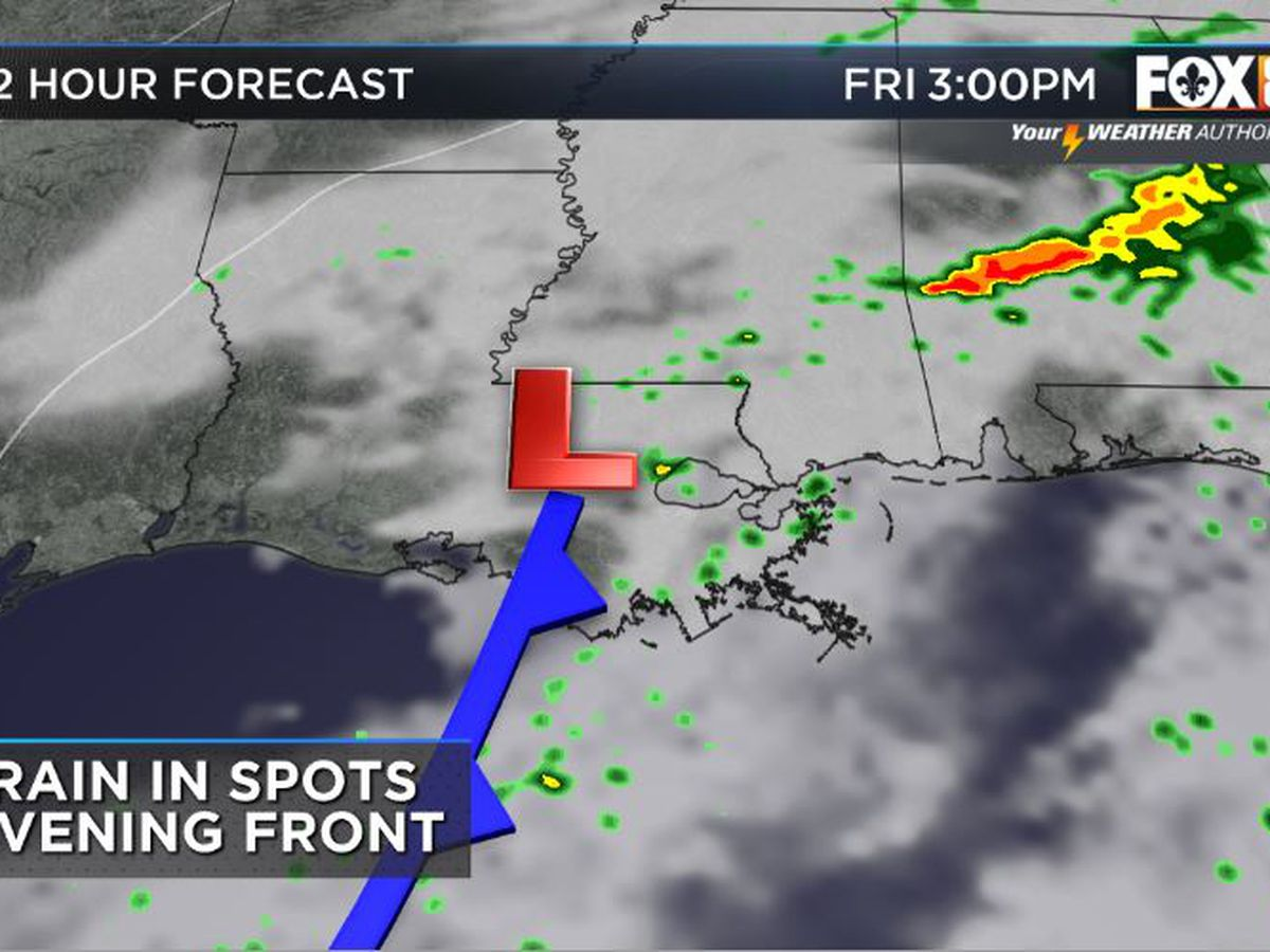 Cold front to move into the area Friday