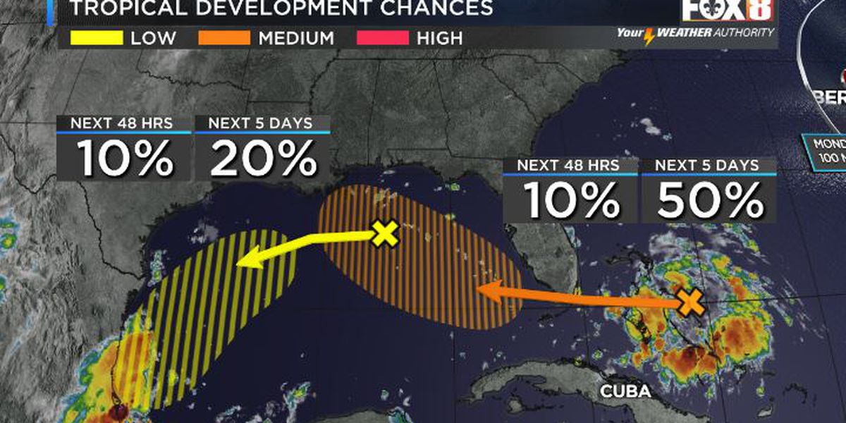 Shelby: Rain Chances Increase, Closely Watching Gulf