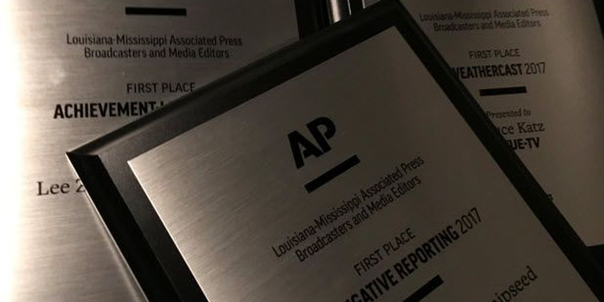 FOX 8 honored with three Louisiana-Mississippi AP Awards