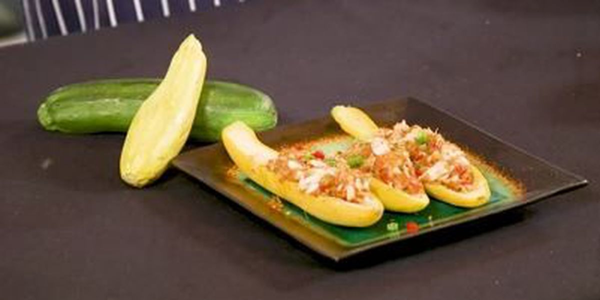 Chef John Folse: Crab meat and shrimp stuffed summer squash
