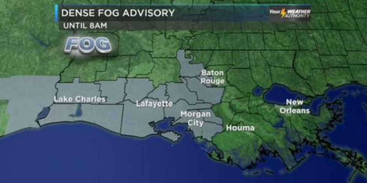 Dense fog advisory has been lifted for the Northshore, clear and sunny later today