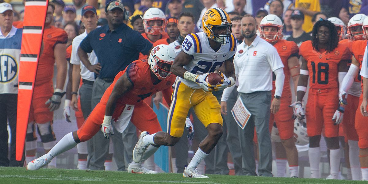 NFL DRAFT: LSU DB Greedy Williams taken No. 46 by the Cleveland Browns