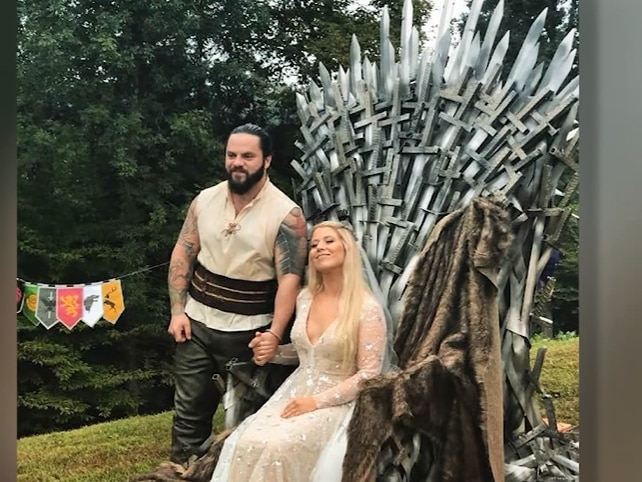 Welder builds Iron Throne replica from 'Game of Thrones' for his wedding
