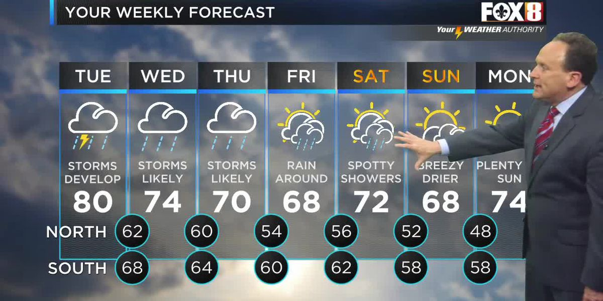 FORECAST: Tues., April 13 - Flash Flood Watch in effect until Thursday