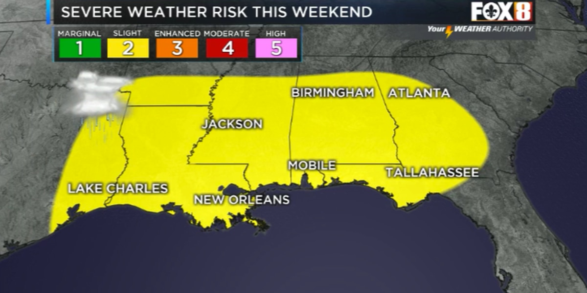 Severe weather threat this weekend