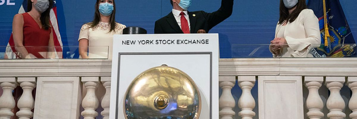 NY Stock Exchange reopens as US closes in on 100,000 dead