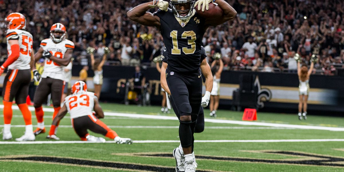 Michael Thomas redeems early fumble with two late touchdowns