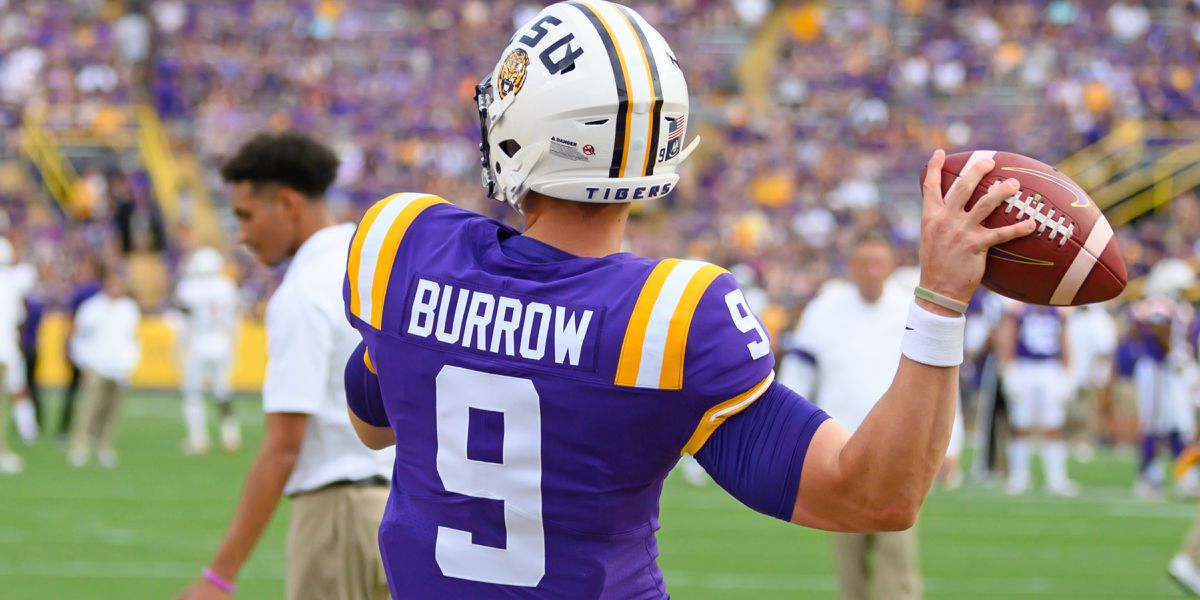 LSU QB Joe Burrow receives support from biggest fans; impresses some outside of football