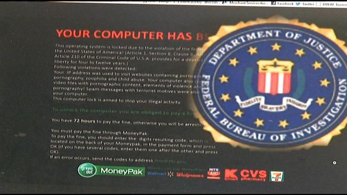 Ransomware virus impersonates FBI, locks up computers