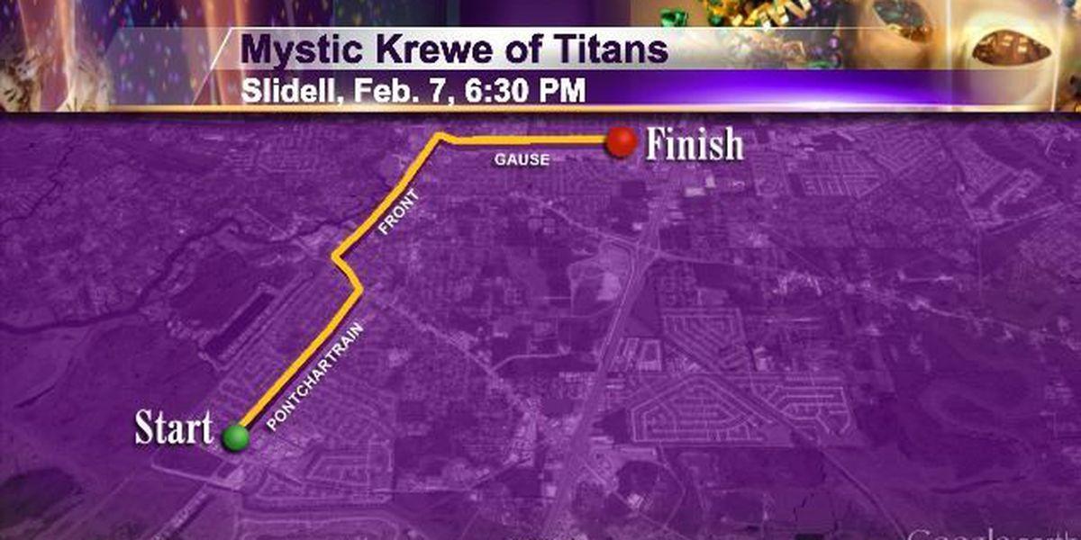 Sat 2/7 Slidell 1pm Krewe of Titans