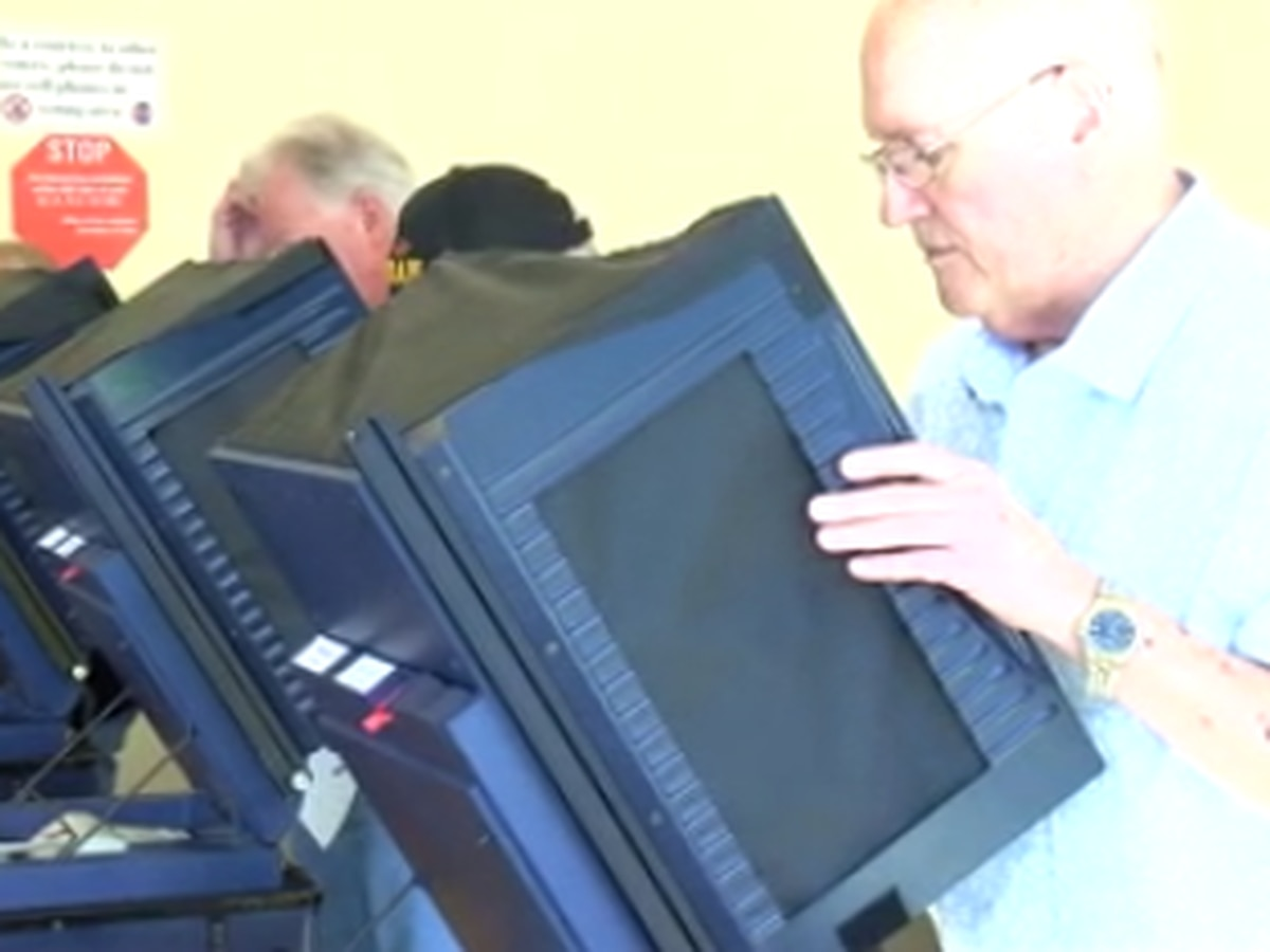 Voting machines placed at polling locations