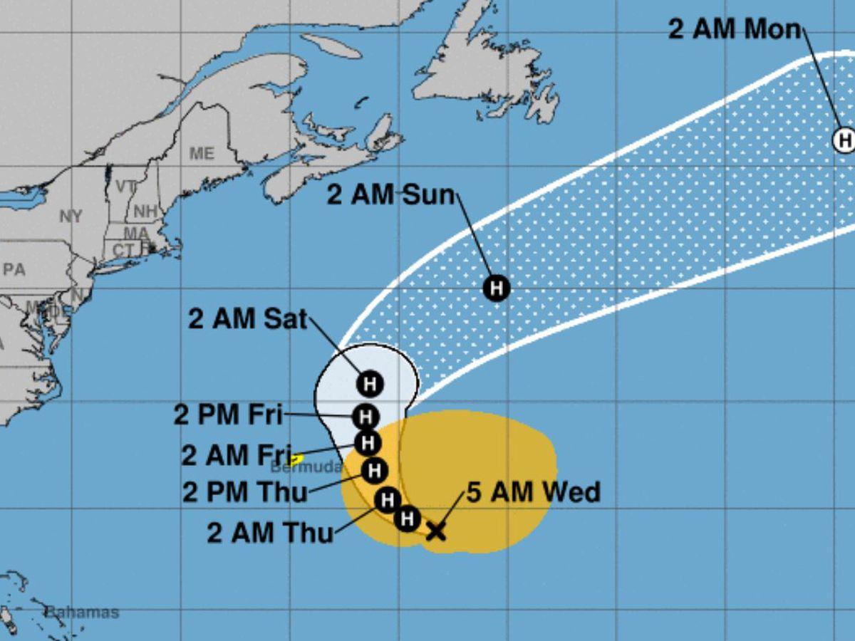 Major Hurricane Epsilon: Tropical storm warning for Bermuda