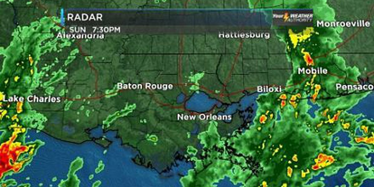 Rene: A wet couple of days, as we watch the Gulf