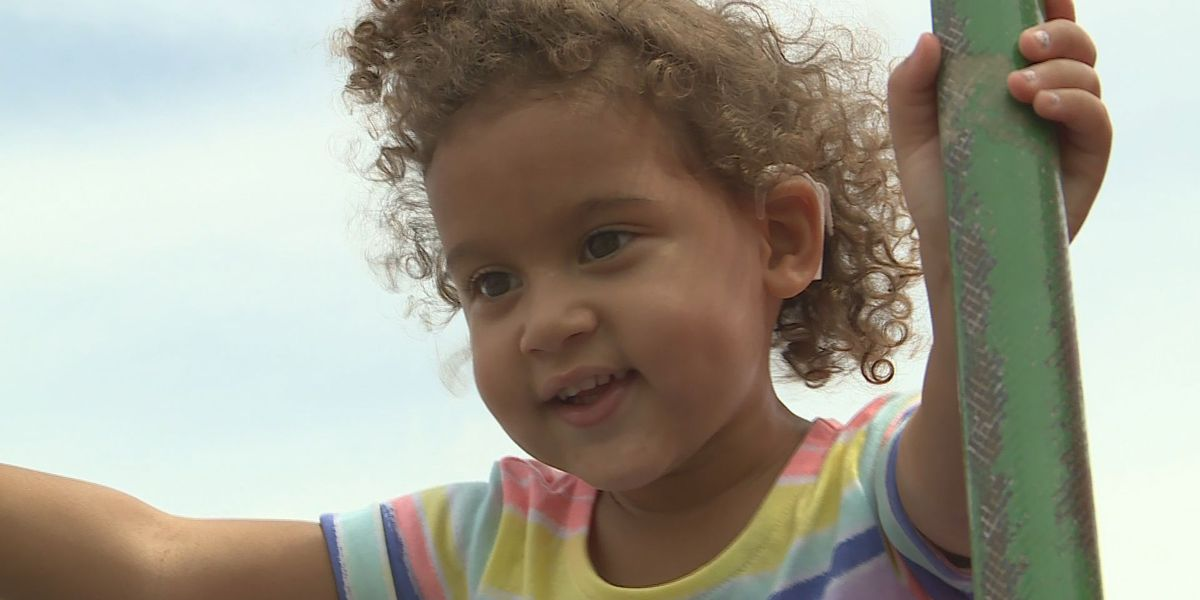 Kansas girl hears world around her for first time