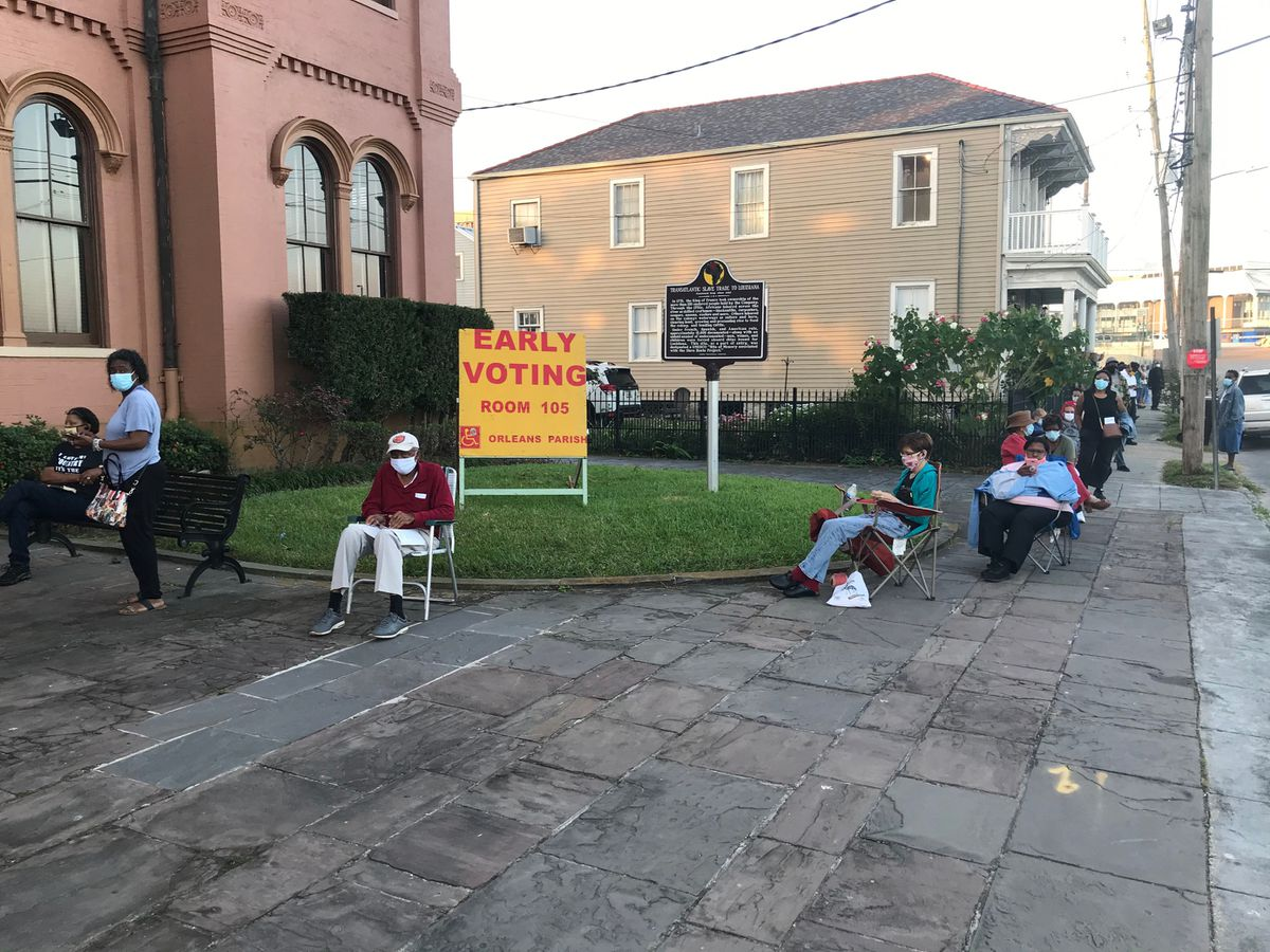 Early voters turn out in force for heated election