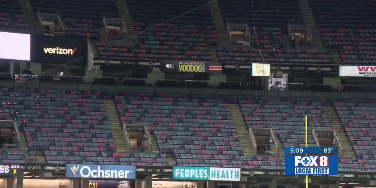 Saints tests safety protocols on 750 people allowed inside the Superdome last Sunday