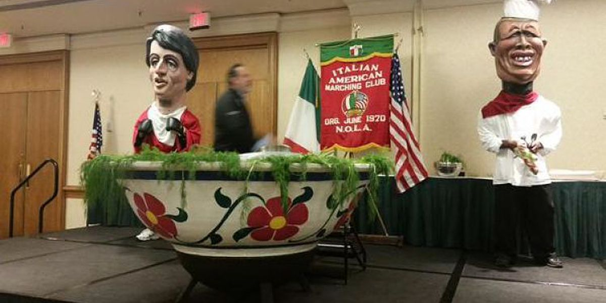 Italian-American Marching Club celebrates St. Joseph's Day with giant pasta dish