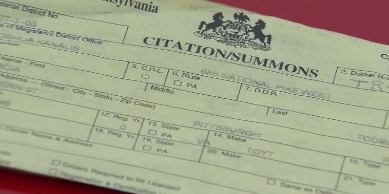 Woman receives arrest warrant, parking tickets from PA town she's