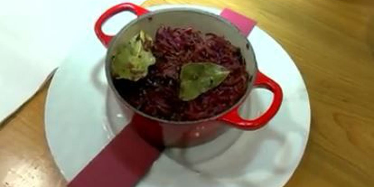 Chef John Folse: Braised red cabbage in apple cider