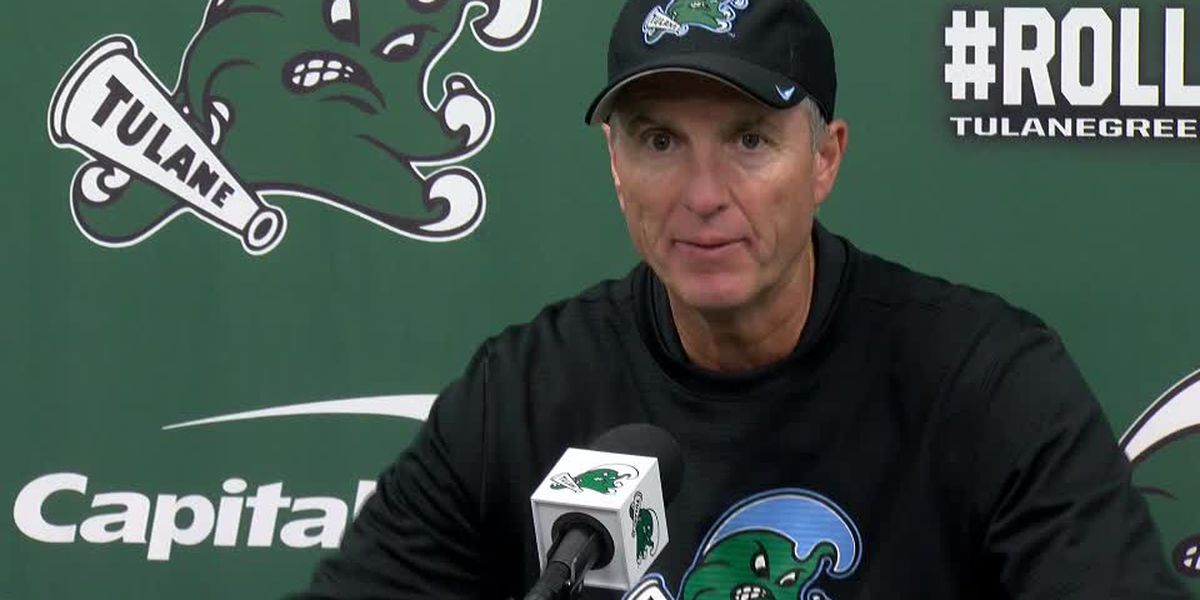 Coach Fritz fired up for Tulane's 6th win of the season