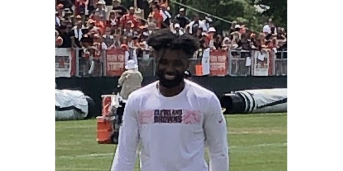 Jarvis Landry can't help but swear with excitement about Odell Beckham Jr.'s catches at Cleveland Browns training camp