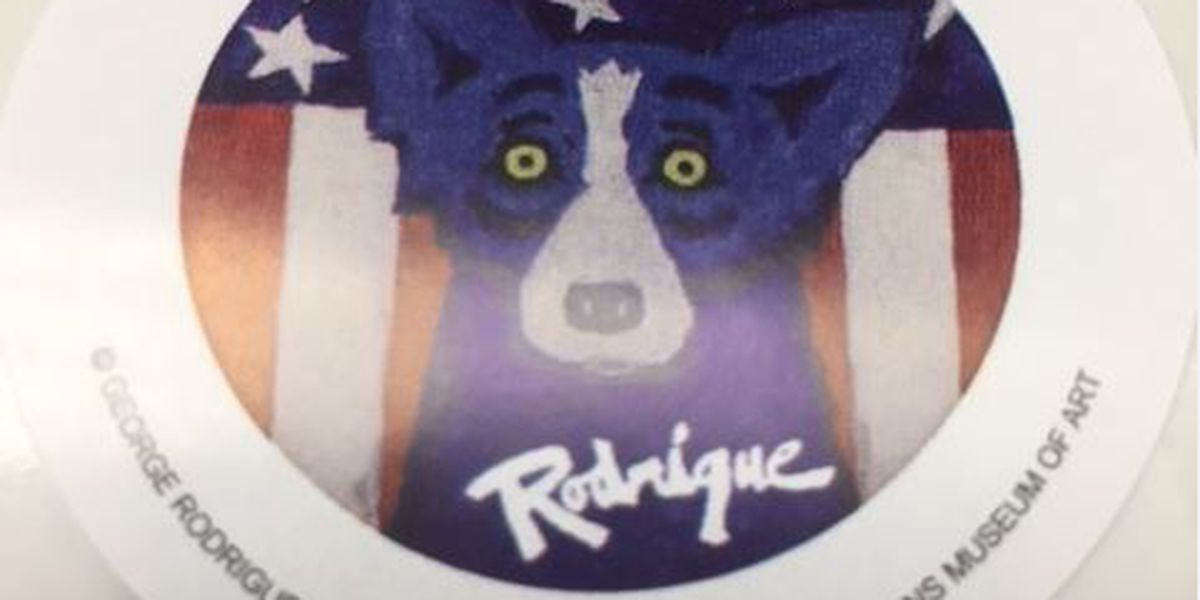 """""""I Voted"""" stickers to feature George Rodrigue's iconic blue dog"""