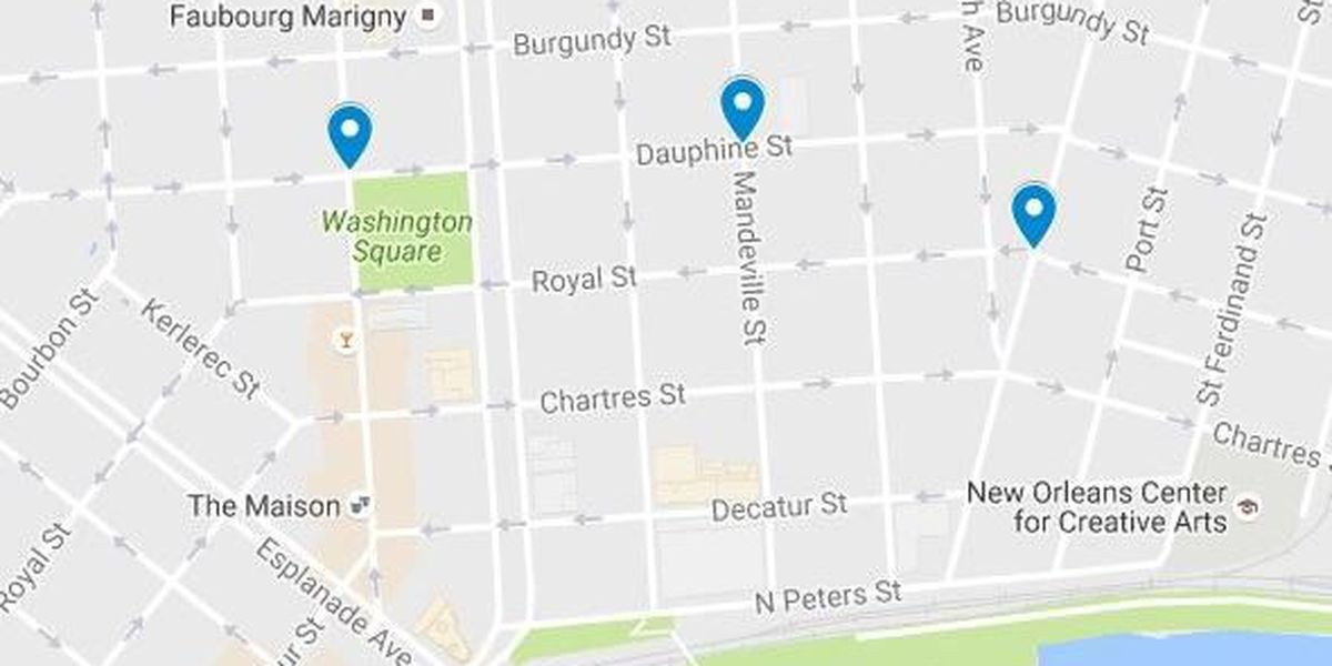 Three Marigny/Bywater armed robberies happen within minutes Thursday night