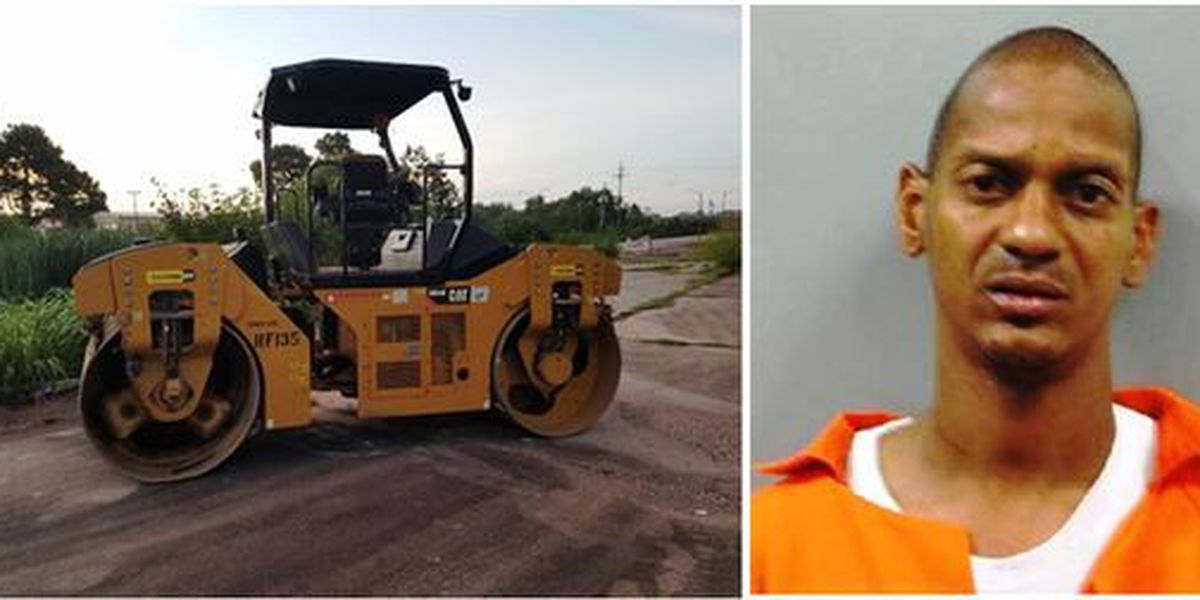 NOPD: Former employee steals 'steam roller' from construction site