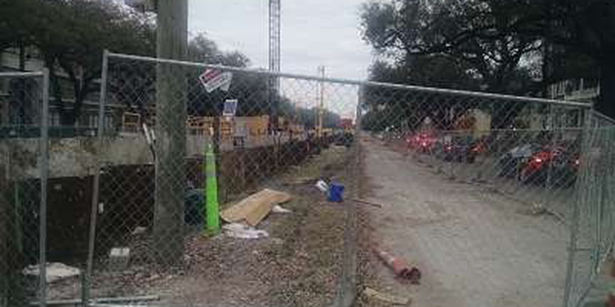 Uptown drainage work will alter parade-goers' plans