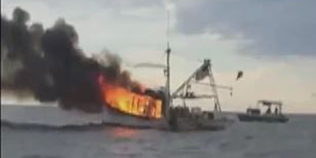 Coast Guard dispatched after boat catches fire in Gulf