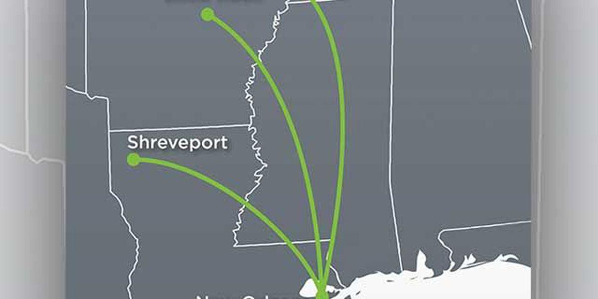 New Orleans-based airline to offer non-stop flights to Memphis, Little Rock, Shreveport