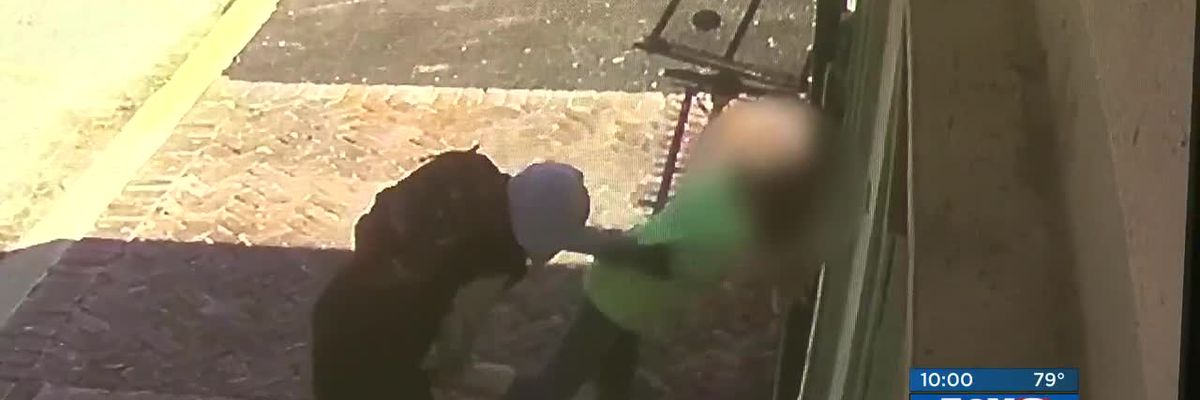 Surveillance video shows grandmother violently carjacked in broad daylight