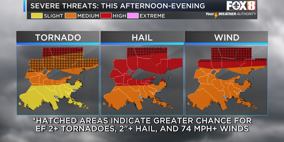 Much of metro area under level 3 or 4 severe weather risk level