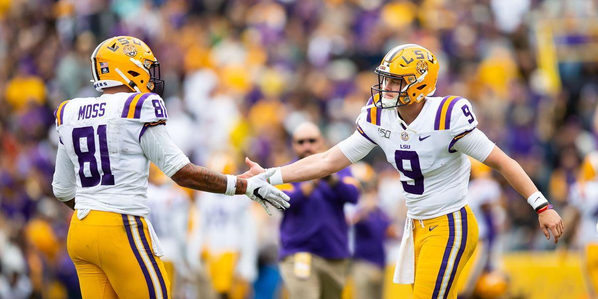 No. 1 LSU nearly a 2 TD favorite over No. 4 Oklahoma