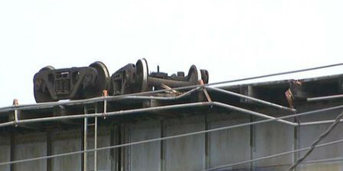 Huey P. Long train trestle repairs underway after container accident