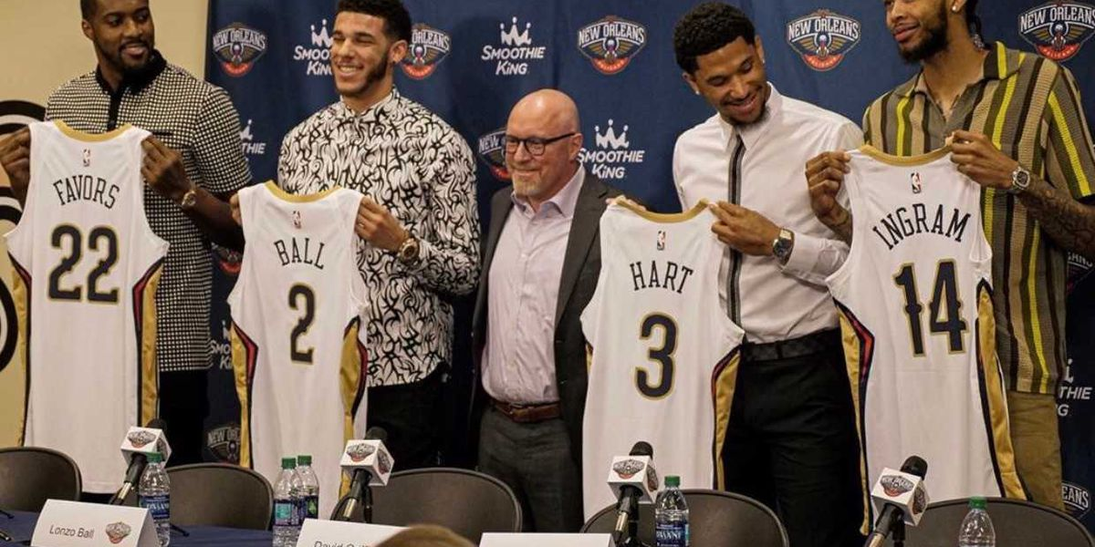 Pelicans introduce Ball, Ingram, Favors, and Hart