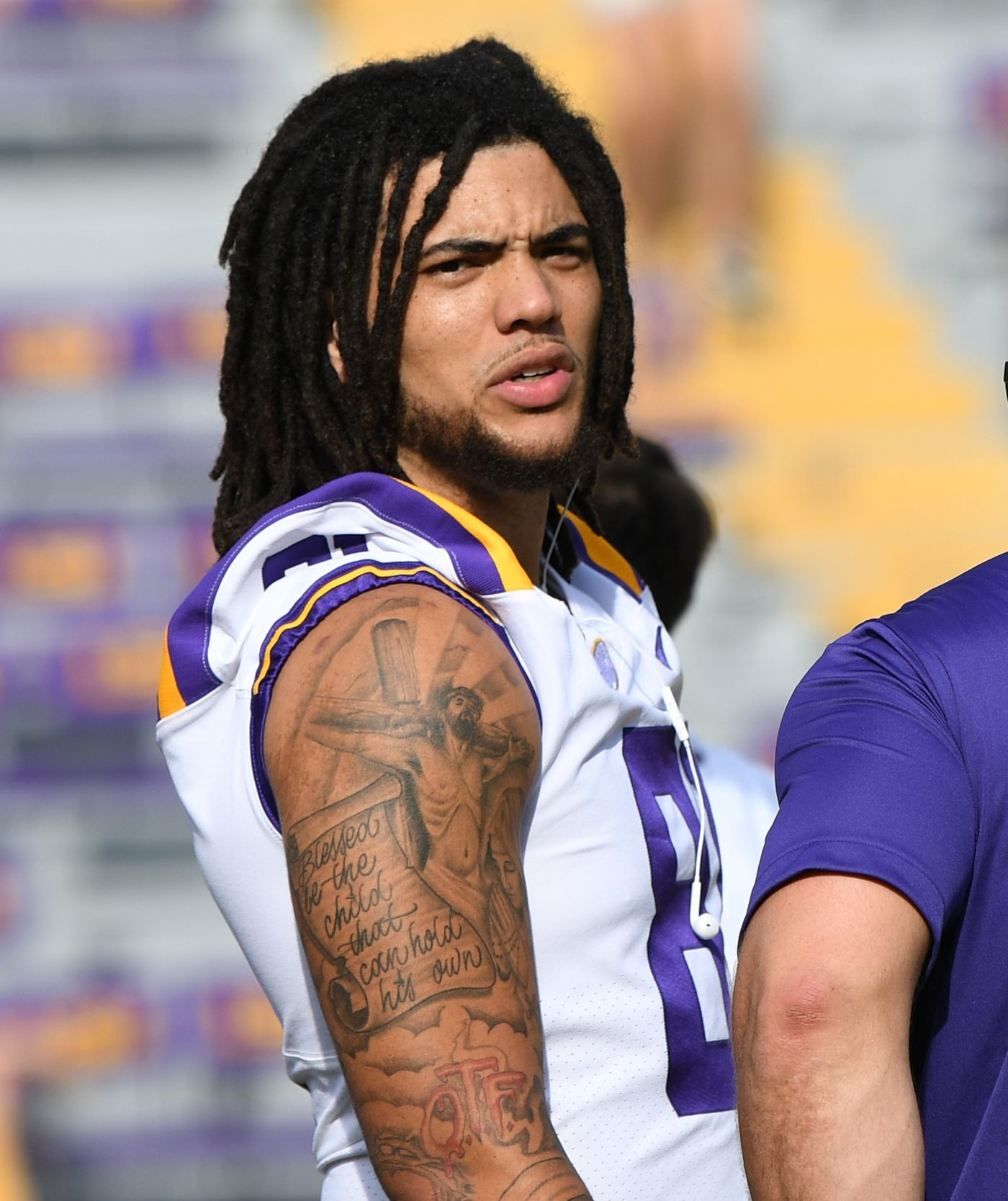 Thaddeus Moss Lsu >> Lsu Tight End Thaddeus Moss Appears Ready For 2019