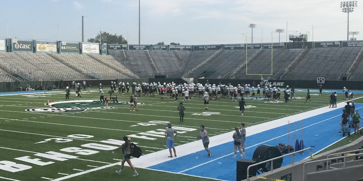 Testing, masks, headline Tulane training camp