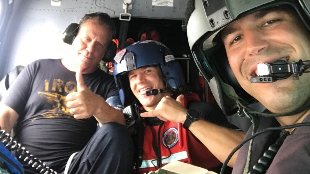 Coast Guard rescues man after plane crashes into the Gulf of Mexico