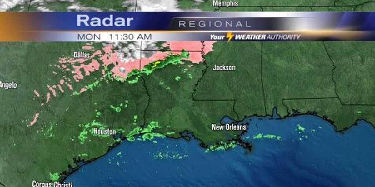 Sleet, freezing rain, snow move over northern Louisiana