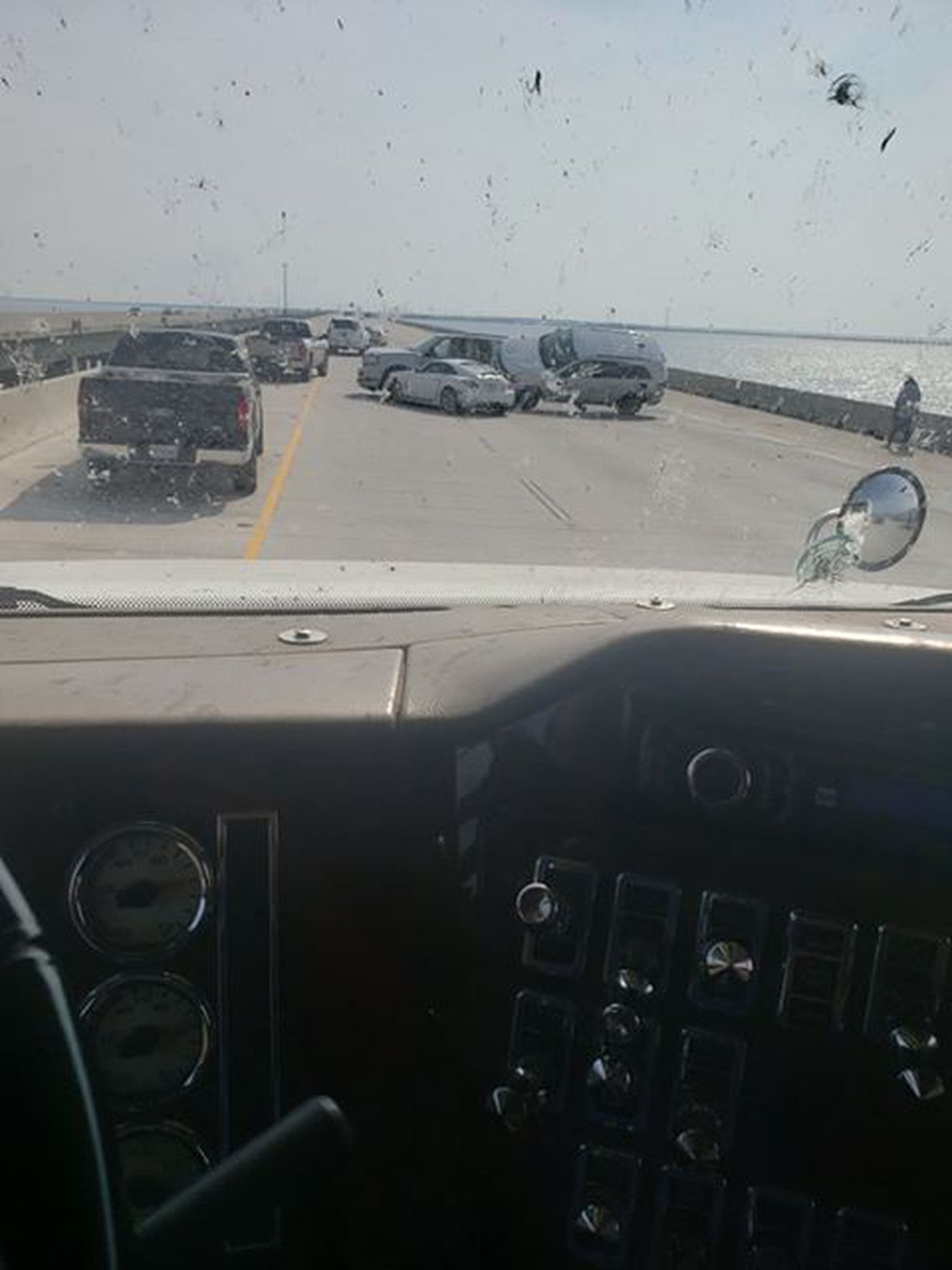 Twin Span reopened after crash shuts down westbound bridge