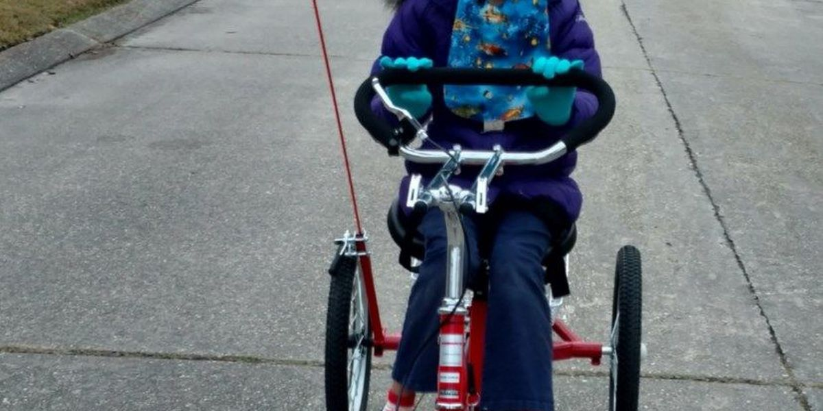 Thief steals custom-built tricycle built for special needs girl