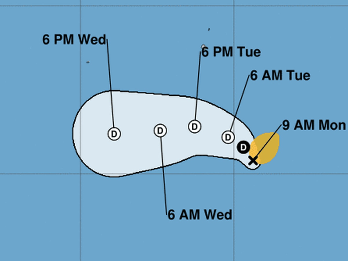 The earliest East Pacific tropical storm, Andres, formed Sunday