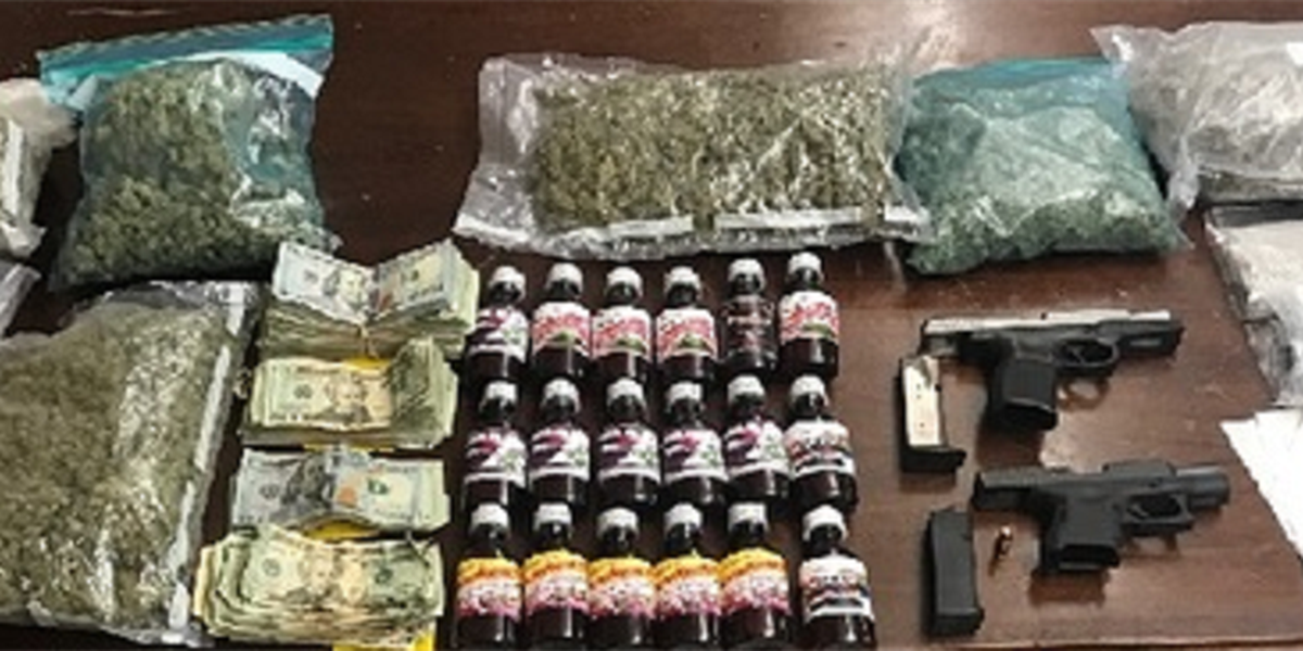 NOPD traffic stop recovers bags of ecstasy pills, marijuana, guns and cash