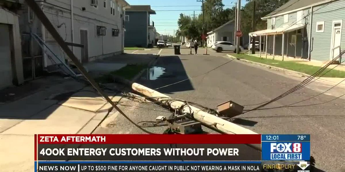 Zeta Aftermath: Thursday Afternoon Power Outages