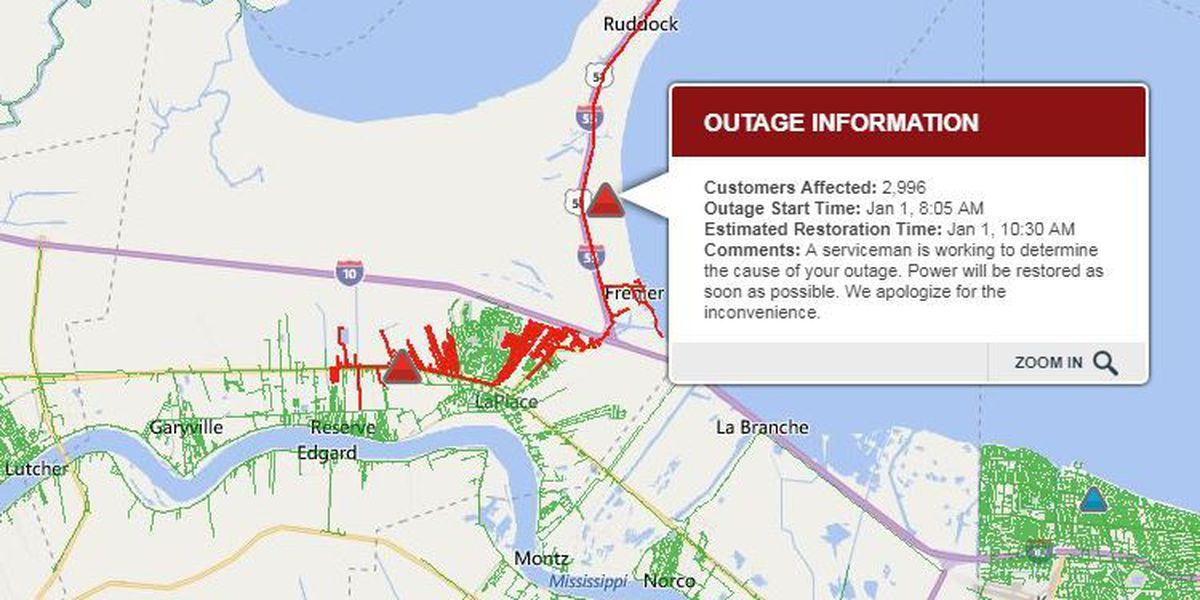 Power Restored After Widespread Outages In Laplace