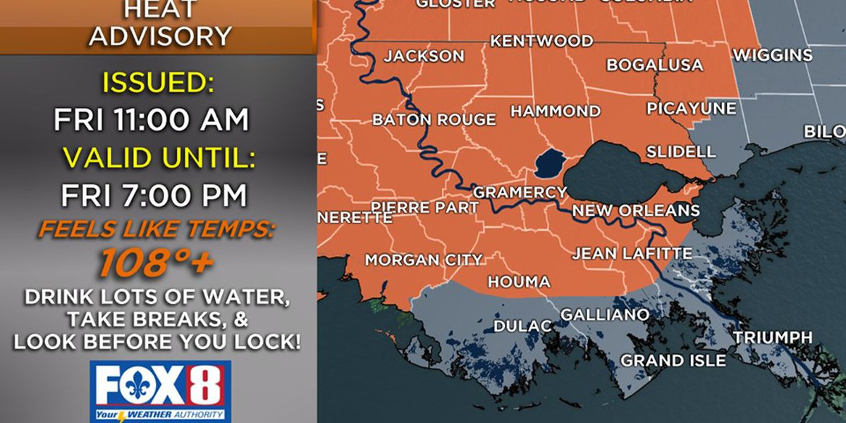 Zack: Heat Advisory issued for today