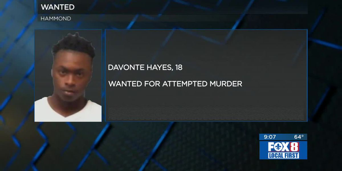 Hammond attempted murder suspect wanted by police