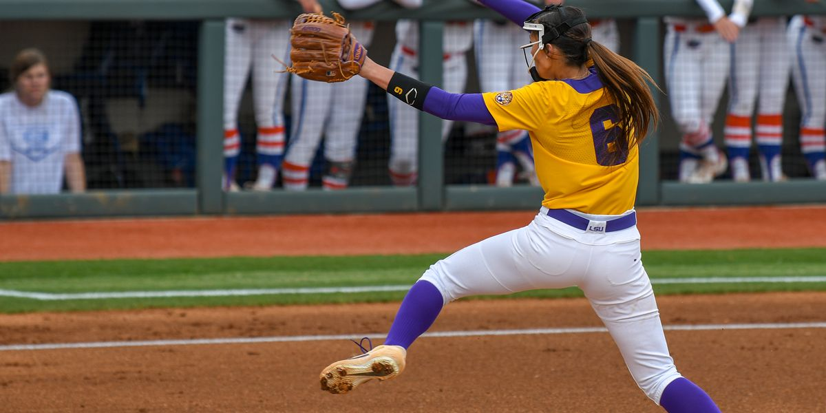 No. 9 LSU softball run-rules No. 7 Florida in 6 innings in Game 2