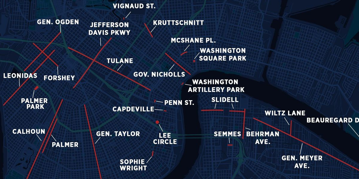 37 New Orleans streets, parks up for renaming